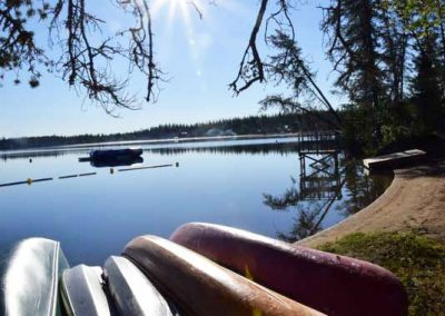 canoe-camp-saskatchewan-canoes-on-shore